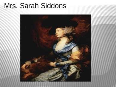 Mrs. Sarah Siddons