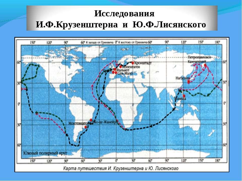 1806 год – во время кругосветного путешествия экспедиция (1903-1904) И.Ф.Круз...