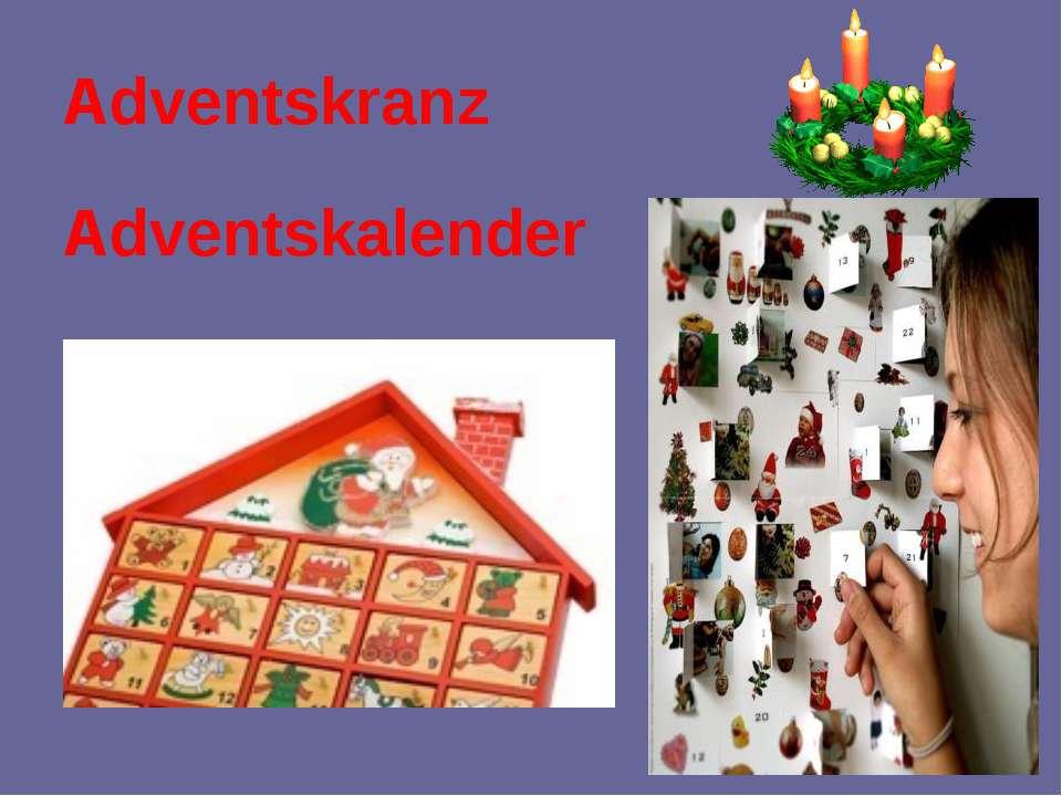 Adventskranz Adventskalender