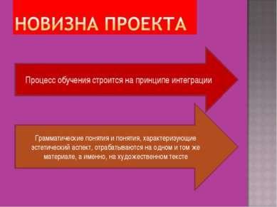Процесс обучения строится на принципе интеграции Грамматические понятия и пон...