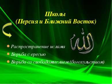 Распространение ислама Борьба с ересью Борьба со свободомыслием (богохульство...