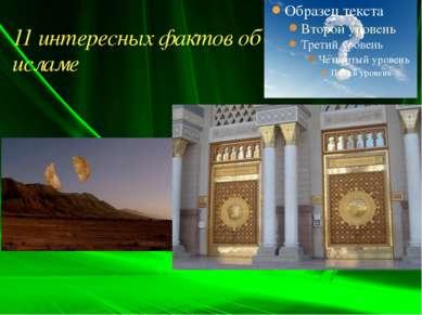 11 интересных фактов об исламе