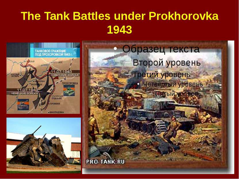 The Tank Battles under Prokhorovka 1943