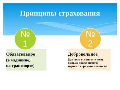 Принципы страхования