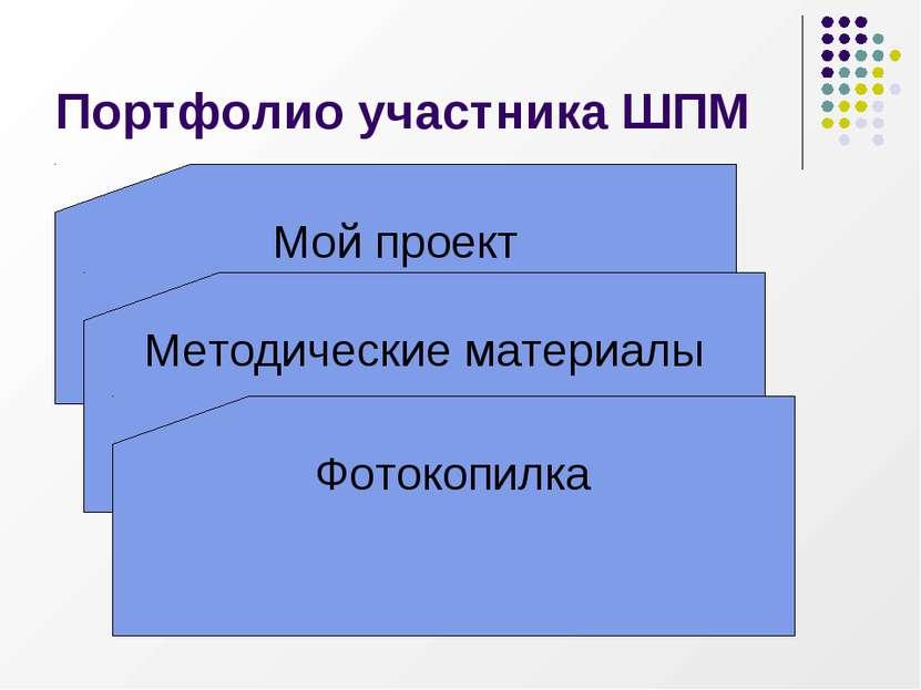 Портфолио участника ШПМ Мой проект Методические материалы Фотокопилка
