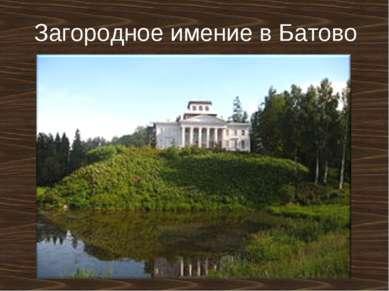 Загородное имение в Батово