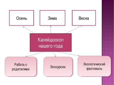 Калейдоскоп нашего года Осень Зима Весна Работа с родителями Экологический фе...