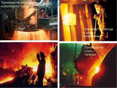 Производство свинца и цинка – Владикавказ Производство вольфрама и молибдена-...