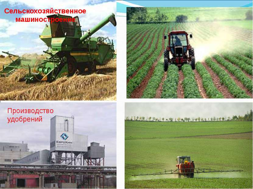 Сельскохозяйственное машиностроение Производство удобрений