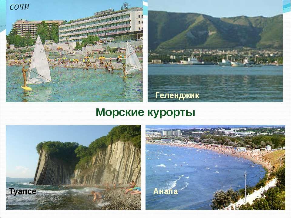 Анапа Геленджик Туапсе Морские курорты