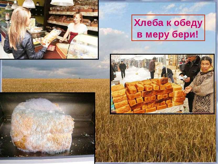 Хлеба к обеду в меру бери! Хлеба к обеду в меру бери!
