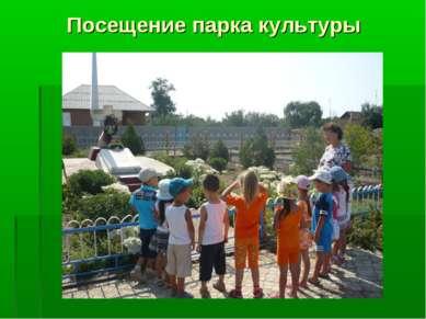 Посещение парка культуры