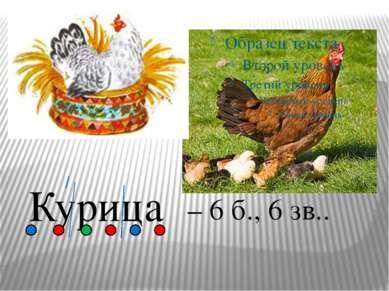 Курица – 6 б., 6 зв..