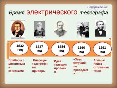 1854 год В начале была идея Шарль Бурсель (инженер – механик) - идея телефони...