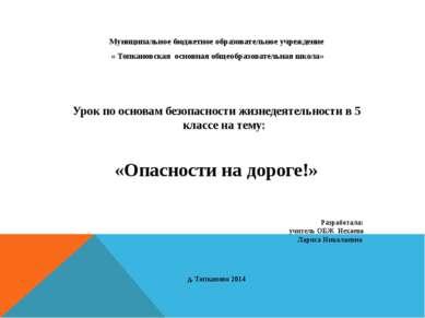 Муниципальное бюджетное образовательное учреждение « Топкановская основная об...