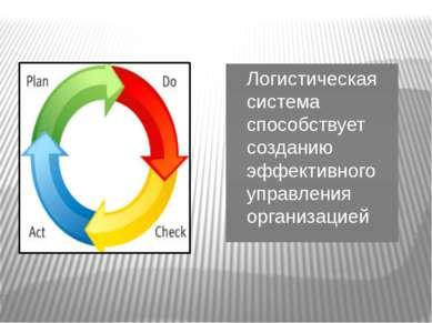 Логистическая система способствует созданию эффективного управления организацией