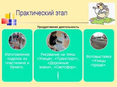 Практический этап Продуктивная деятельность