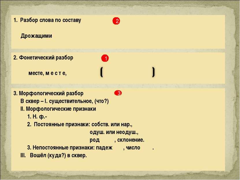 рыбак фонетический разбор