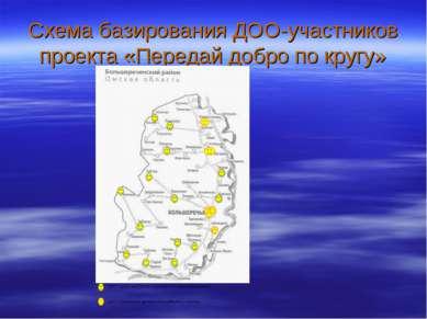 Схема базирования ДОО-участников проекта «Передай добро по кругу»