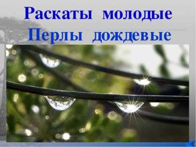 Раскаты молодые Перлы дождевые