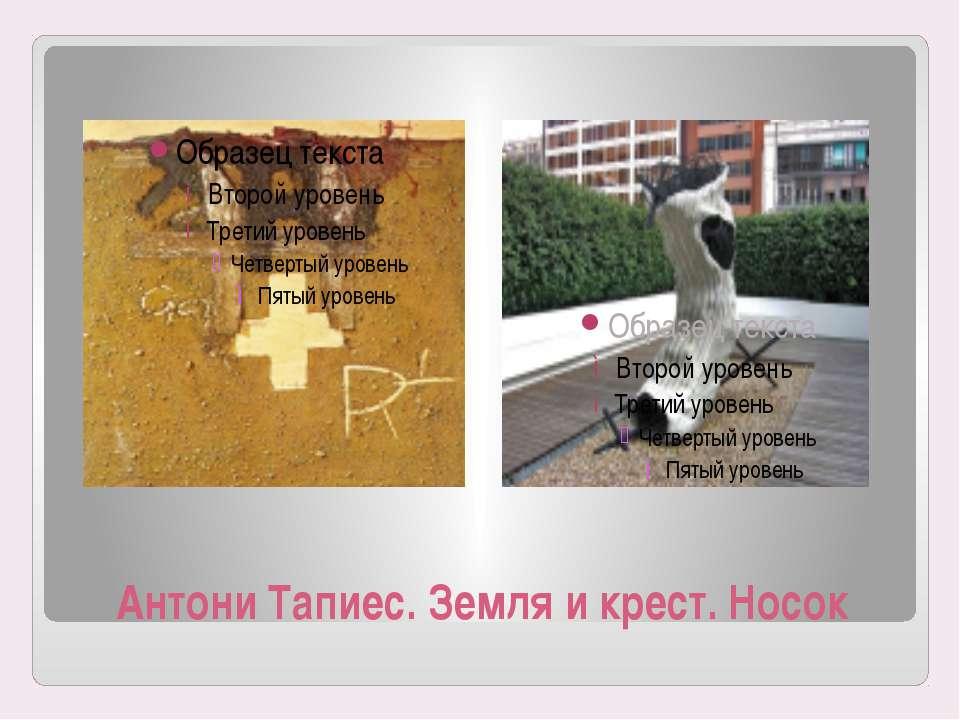 Антони Тапиес. Земля и крест. Носок