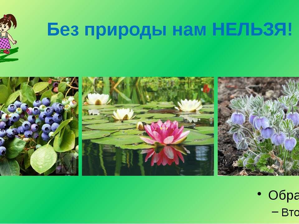 Без природы нам НЕЛЬЗЯ!