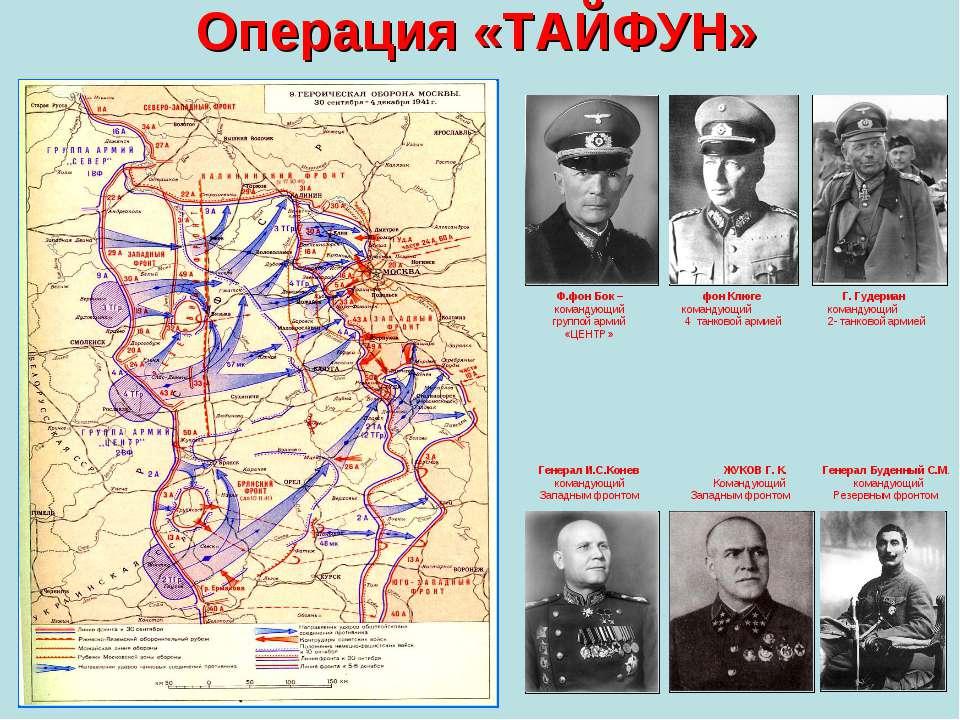 Операция «ТАЙФУН» Генерал И.С.Конев командующий Западным фронтом ЖУКОВ Г. К. ...