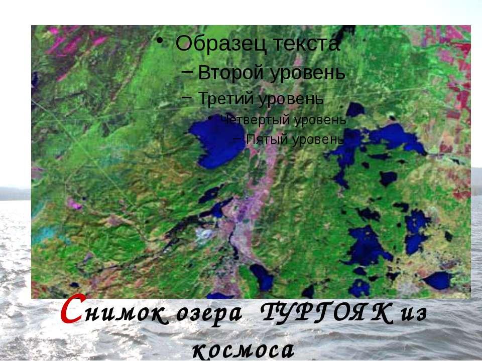 Снимок озера ТУРГОЯК из космоса
