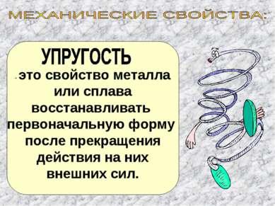 - это свойство металла или сплава восстанавливать первоначальную форму после ...