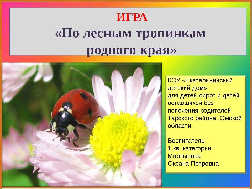 КОУ «Екатерининский детский дом» для детей-сирот и детей, оставшихся без попе...
