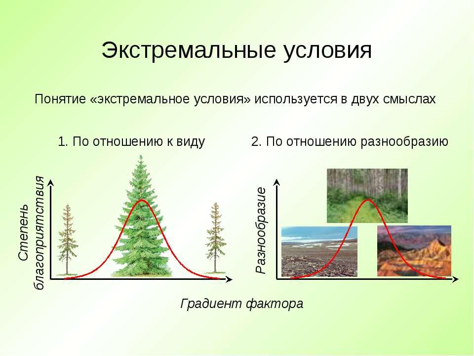 Экстремальные условия Понятие «экстремальное условия» используется в двух смы...