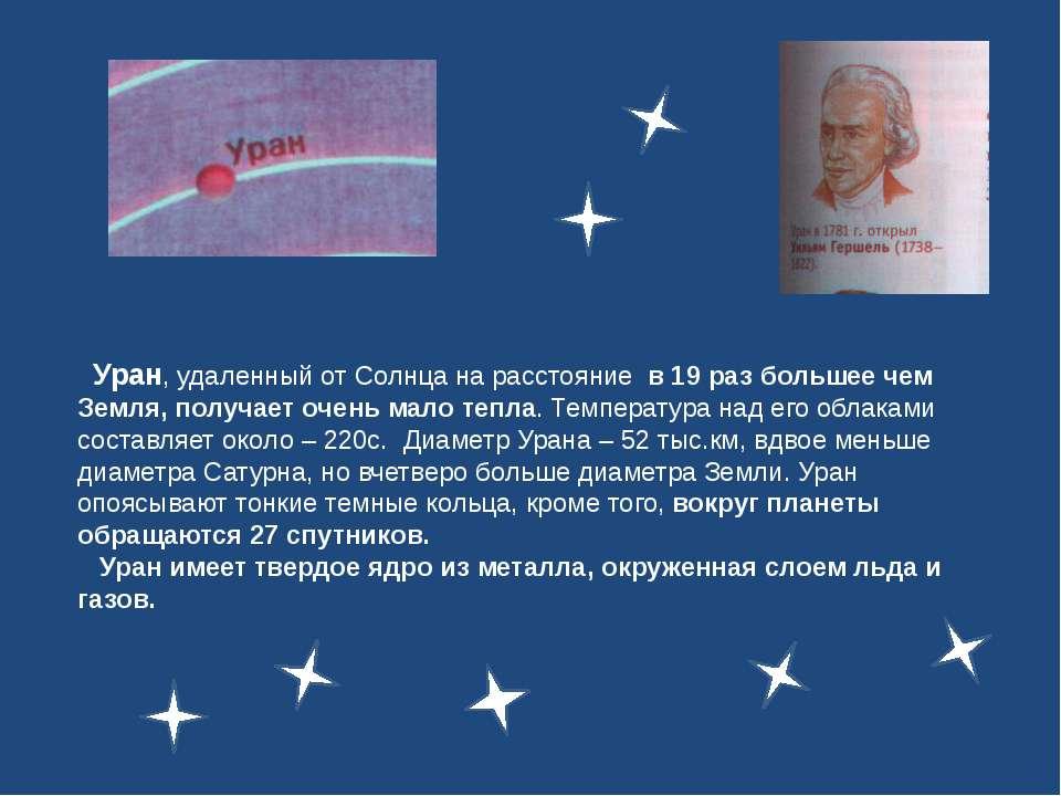 Уран, удаленный от Солнца на расстояние в 19 раз большее чем Земля, получает ...