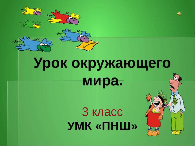 Урок окружающего мира. 3 класс УМК «ПНШ»
