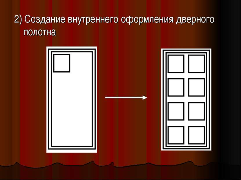 2) Создание внутреннего оформления дверного полотна