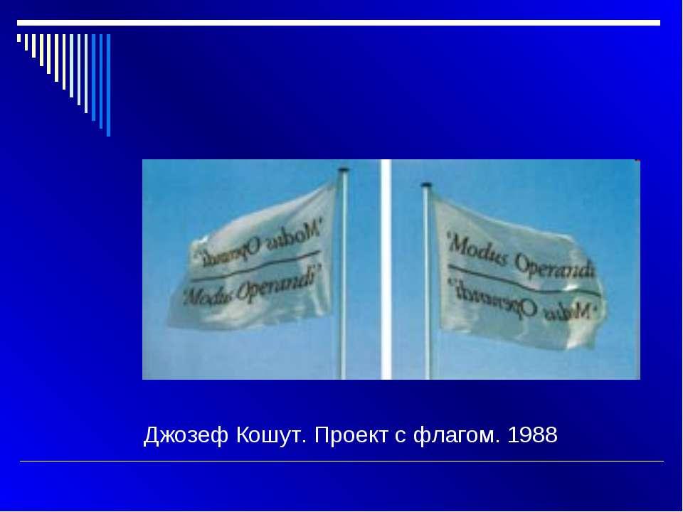 Джозеф Кошут. Проект с флагом. 1988