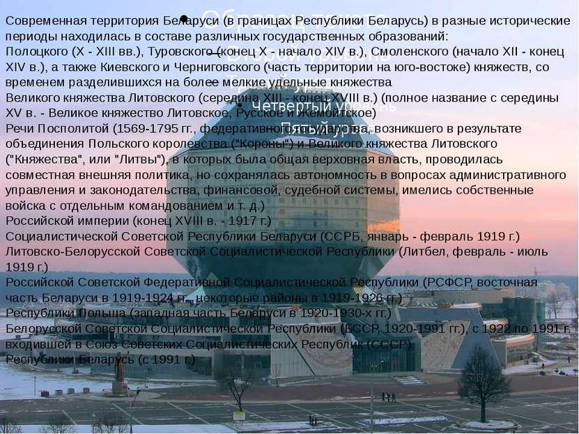 Современная территория Беларуси (в границах Республики Беларусь) в разные ист...