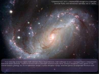 Но в 1924 году астроном Эдвин Хабл изменил общее представление. Хабл наблюдал...