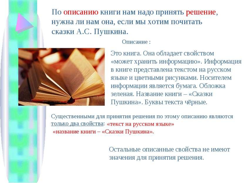 По описанию книги нам надо принять решение, нужна ли нам она, если мы хотим п...