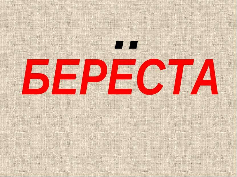 БЕРЕСТА ..