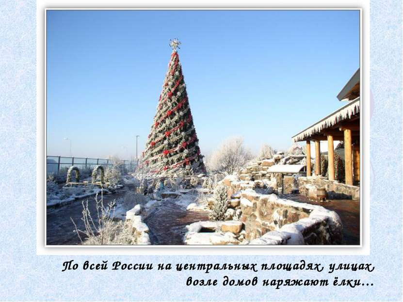 По всей России на центральных площадях, улицах, возле домов наряжают ёлки…