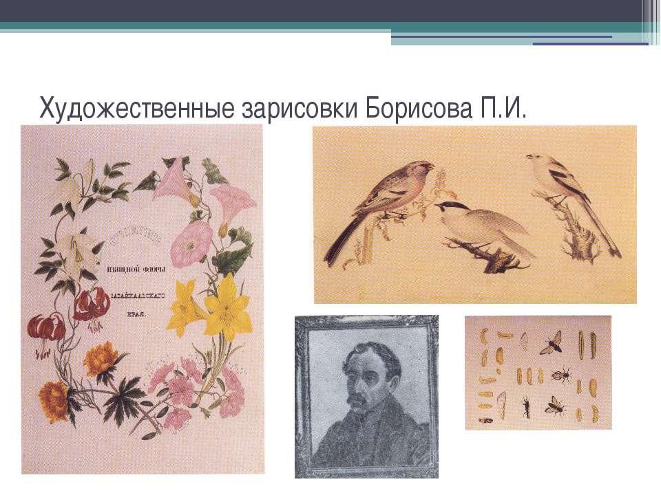Художественные зарисовки Борисова П.И.
