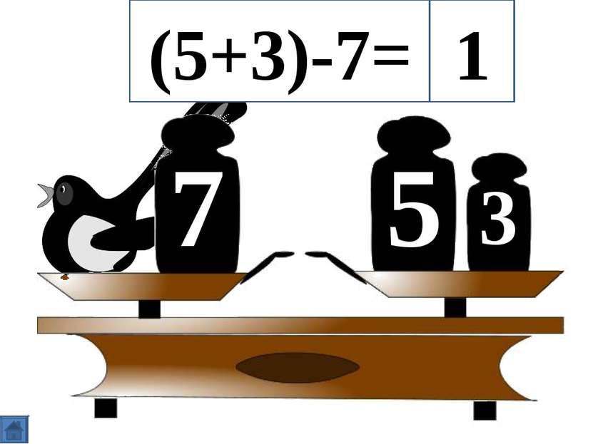 5 7 3 (5+3)-7= 1