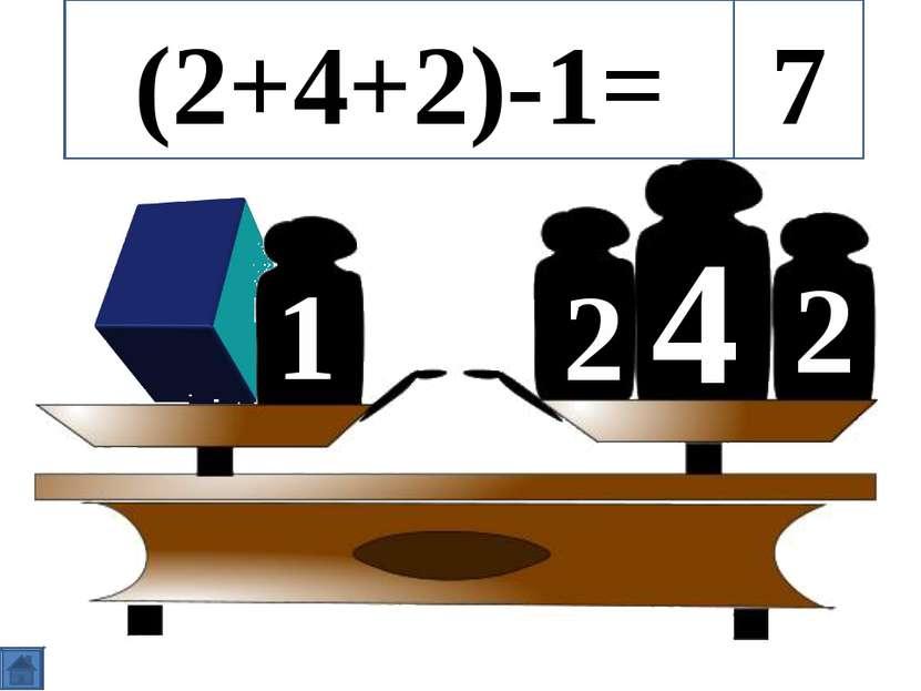 4 2 2 1 (2+4+2)-1= 7