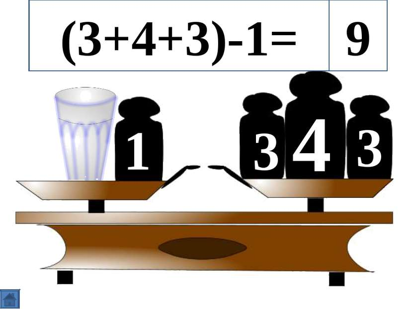 4 3 3 1 (3+4+3)-1= 9