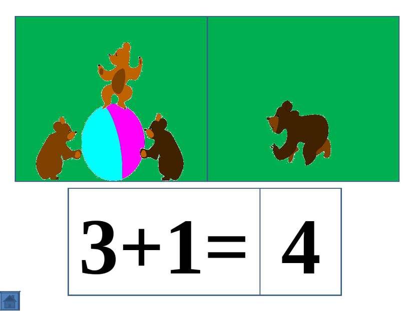 3+1= 4