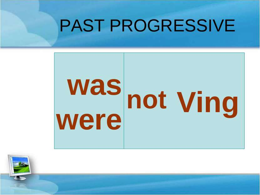 Ving was were PAST PROGRESSIVE not