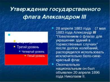 Утверждение государственного флага Александром III 28 апреля 1883 года (7 мая...