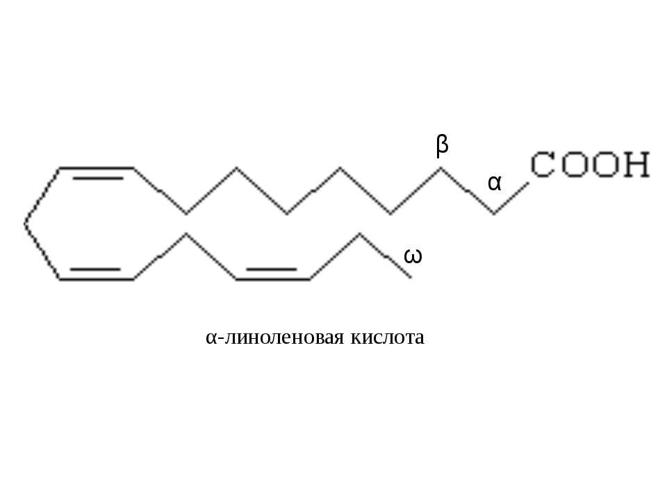 α-линоленовая кислота α β ω