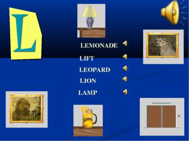 LEMONADE LEOPARD LIFT LION LAMP