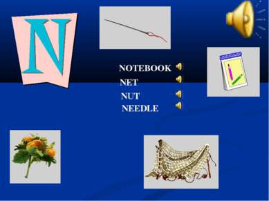 NOTEBOOK NUT NEEDLE NET